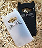 Чехол Кот для Samsung G360 G361, белый