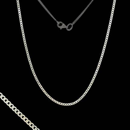Серебряная цепочка, 550мм, 3 грамма, плетение Панцирь, фото 2