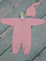 Человечек и шапочка для новорожденной девочки (трансферли), р. 62