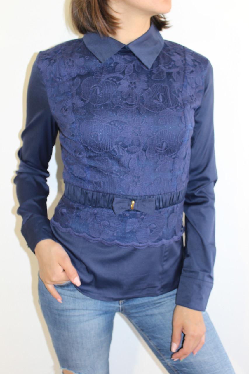 539d7b0d0cd Рубашка Женская Темно-синяя1348 1 — в Категории
