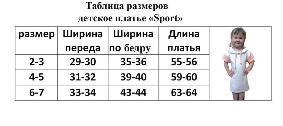Спорт-15Д Детское пошитое платье под вышивку  (размеры 2-7 лет), фото 2