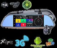Зеркало регистратор - Андроид 7 дюймов, 3 G, камера заднего вида, Gps навигатор