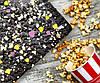 """Шоколад натуральный цветочный """"AUGUST"""" на основе кэроба с попкорном и медовой грушей 100 г, фото 2"""