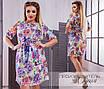Платье летнее принт цветочный софт 50-52,54-56,58-60,62-64, фото 2