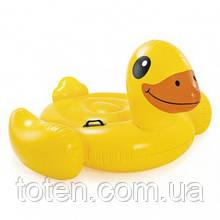 """Пліт надувний для плавання 57556 """"Жовта Качечка"""" Intex розміром 147х147х81 см, вагою 2,1 кг, від 3 років"""