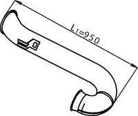 Вихлопна труба DAF 1331936 DINEX