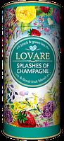 Смесь черного и зеленого чая Lovare Брызги шампанского 80 гр. тубус