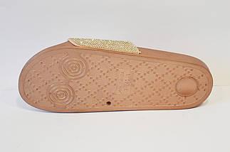 Шлепанцы золотистые со стразами Sopra PC12, фото 3