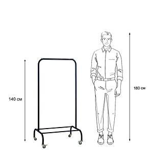 Стойка для одежды на колесиках Лофт 1А пром черная (металл), фото 2