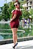 Льняной костюм с шортами большие размеры, фото 3