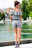 Льняной костюм с шортами большие размеры, фото 4