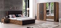 Спальня полный комплект ,кровать с боксом , шкаф 253см , 2 тумб и туалетный стол , Акустик