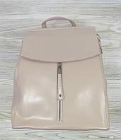 Рюкзак кожаный светло-розового цвета, фото 1