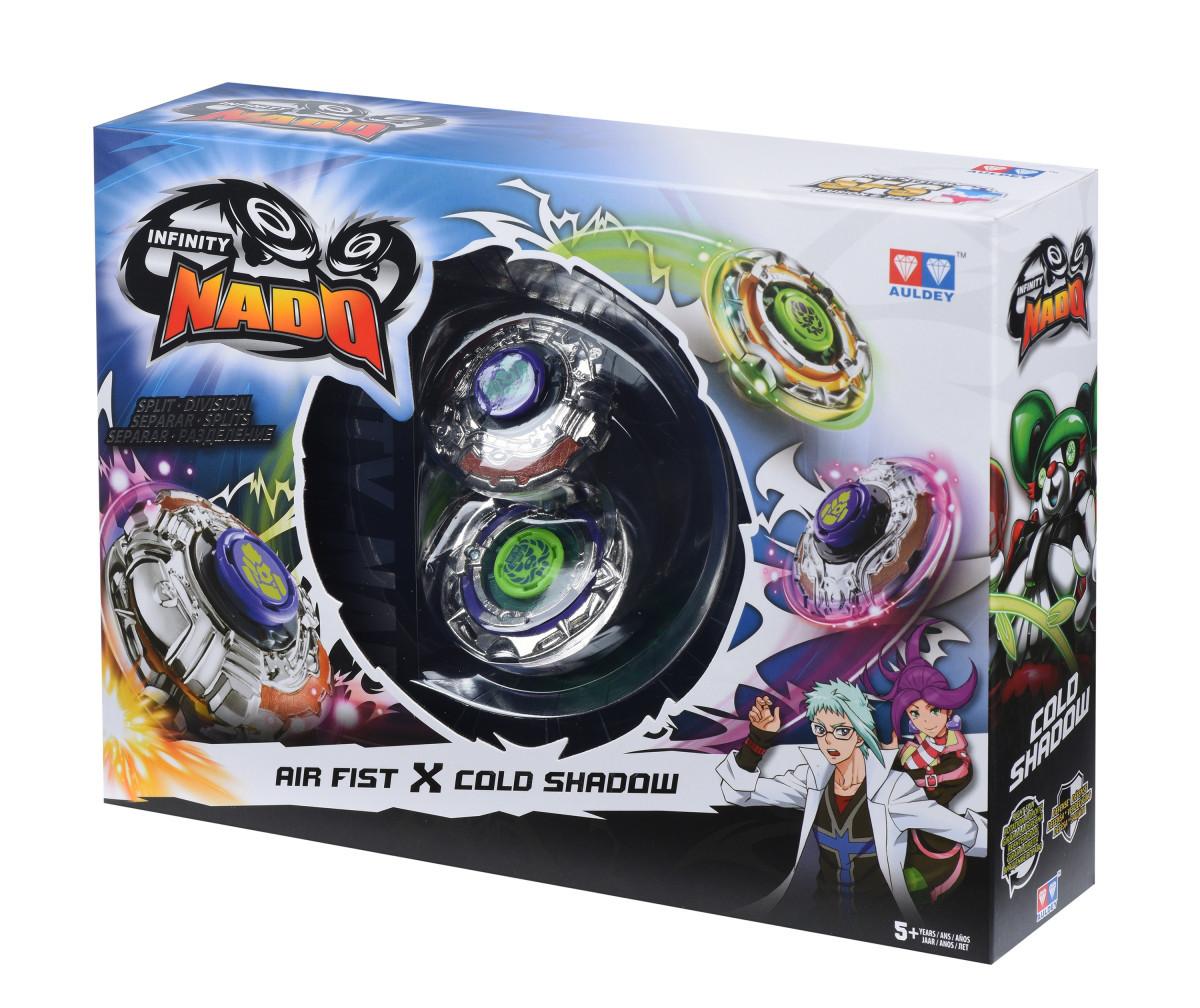 AULDEY Волчок с устройством Infinity Nado Сплит Air Fist Повітряний Кулак и Cold Shadow Прудка Панда