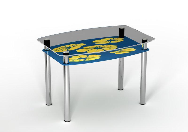Стол обеденный стеклянный Мальва 90х65 (Sentenzo TM)