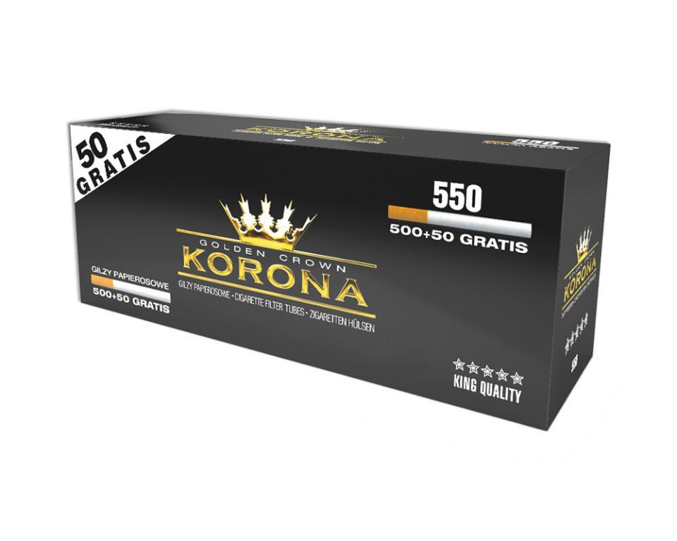 Гильзы для набивки сигарет Korona, 550 шт.
