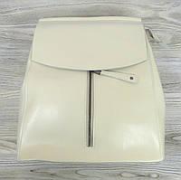 Рюкзак кожаный бежевого цвета, фото 1