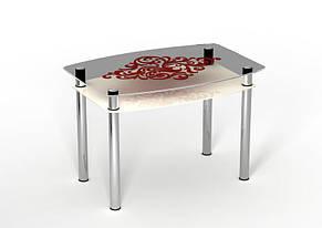 Стол обеденный стеклянный Барокко 90х65 (Sentenzo TM), фото 2