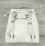 Рюкзак кожаный белого цвета, фото 2