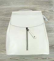 Рюкзак кожаный белого цвета, фото 1
