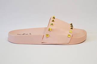 Шлепанцы розовые с шипами Sopra PM755, фото 2