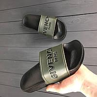 Женские шлепанцы Givenchy Black Khaki (РЕПЛИКА)