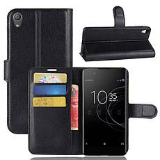 Чехол для Sony Xperia XA1 Plus / G3412 / G3416 / G3421 / G3423  книжка кожа PU черный