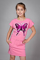 Летний костюм футболка и юбка для девочки