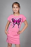 Літній костюм футболка і спідниця для дівчинки