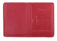 Обложка Красная для мини водительского удостоверения из эко кожи , фото 1
