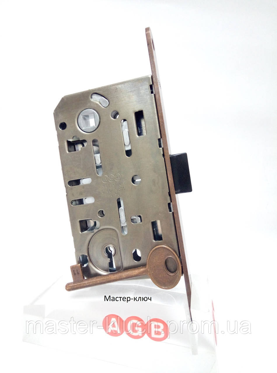 Замок межкомнатный AGB Mediana Evolution B01101 под французский ключ