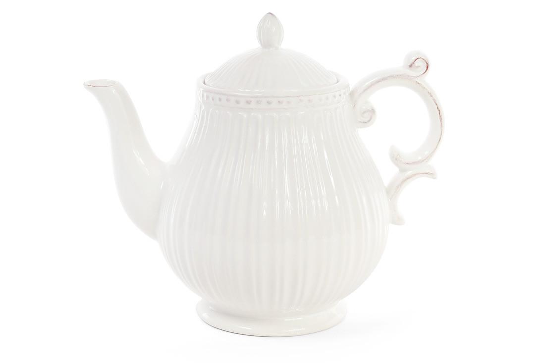 Чайник керамический 1л, цвет - белый