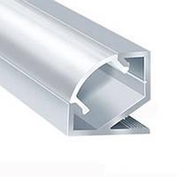 Алюминиевый профиль угловой для светодиодной Led ленты + рассеиватель
