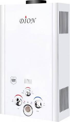 Газовая колонка Дион JSD 08 белая дисплей, фото 2