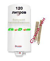 Комбинированный бойлер ELDOM Gren Line EUREKA 120L 2.4 kW  (сухой тэн)