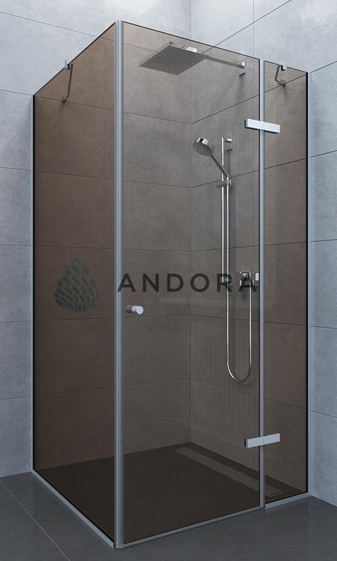 Душевая кабина Andora Aspen 100x100x200 стекло bronze L / R