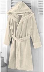 Халат Arya махровый с Капюшоном хлопок 100% Miranda Soft Кремовый S  M  L  XL