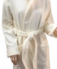 Халат Arya махровый с Капюшоном хлопок 100% Miranda Soft Кремовый S  M  L  XL, фото 2
