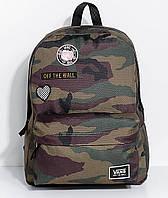 Рюкзак Vans - Realm Camo Patch c камуфляж с нашивками и патчем