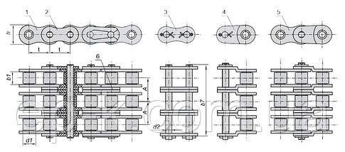 Цепи 3ПР - 19,05-9600-2 (ISO 12В-3), фото 3