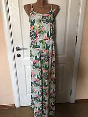 Женское летнее роскошное цветное платье в пол esmara Германия, фото 2