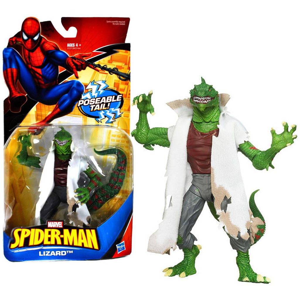 "Фигурка суперзлодей Ящер ""Человека-паук"" - Lizard, Marvel, 15 СМ, Hasbro"