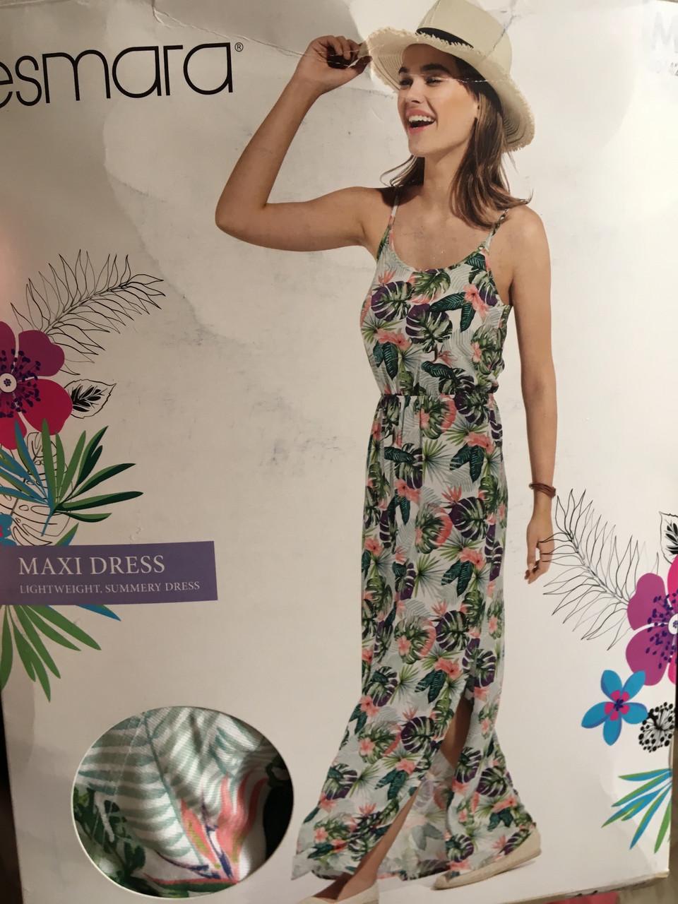 Женское летнее роскошное цветное платье в пол esmara Германия