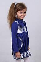 Платье  детское  М -822 с длинным рукавом рост 116 128, фото 1