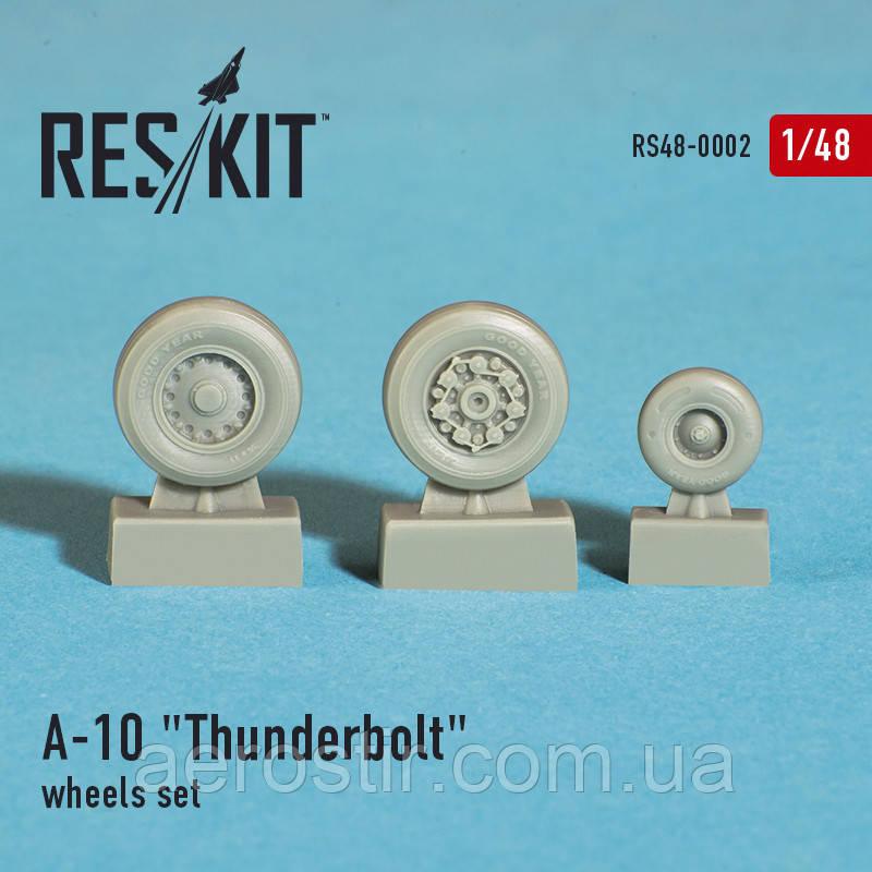 "Fairchild Republic A-10 ""Thunderbolt"" wheels set 1/48  RES/KIT 48-0002"