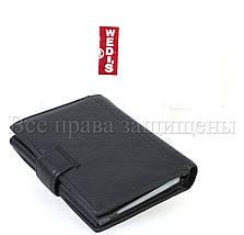 Чоловічий шкіряний гаманець чорний Wedis WEDIS-301, фото 3