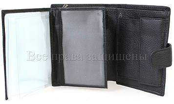Чоловічий шкіряний гаманець чорний Wedis WEDIS-301, фото 2
