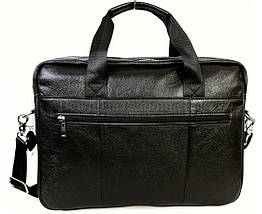 Мужской кожаный портфель черный (Формат: А4 и больше) NAVI NVP-0212-Black, фото 2