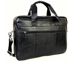 Мужской кожаный портфель черный (Формат: А4 и больше) NAVI NVP-0212-Black, фото 3