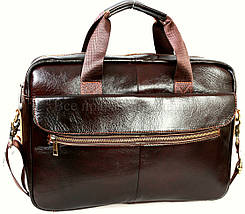 Мужской кожаный портфель кофейный (Формат: А4 и больше) NAVI NVP-0212-Cofee, фото 2